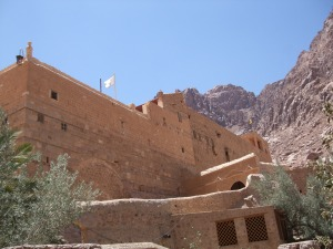 St Catherine's Monastery with Mount Sinai in the background